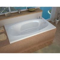 "Avano AV3666PDR Bermuda 65-1/4"" Acrylic Air / Whirlpool Bathtub for Drop-In Installations with Right Drain - White"
