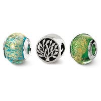 Sterling Silver Reflections Trees of Green Boxed Bead Set