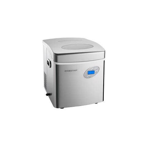 """EdgeStar IP250 17"""" Wide 2.6 Lbs. Capacity Portable Ice Maker with 48 - Stainless Steel"""