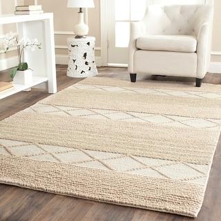 Link to SAFAVIEH Handmade Natura Alime Wool Rug Similar Items in Patterned Rugs