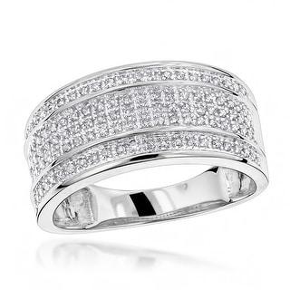 Link to Luxurman 10k Gold Men's 2/5ct TDW 5-row Diamond Ring Similar Items in Wedding Rings