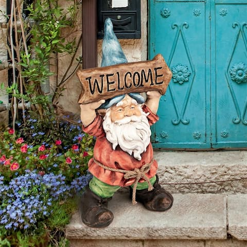Design Toscano Welcoming Willie Garden Gnome Greeter Statue