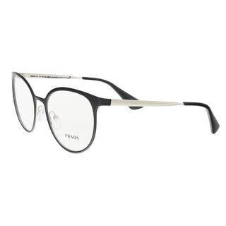 Prada PR 53TV 1AB1O1 Black/Silver Round Opticals - 52-19-135