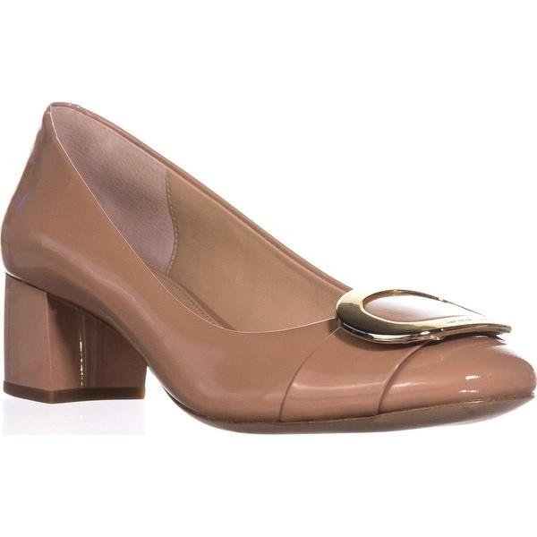 MICHAEL Michael Kors Caroline Mid Pump Classic Heels, Suntan
