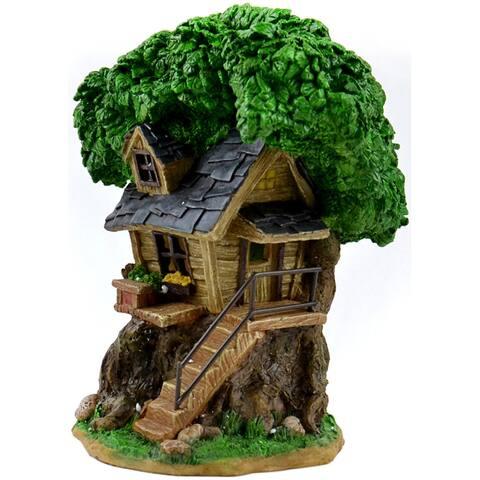 "Fairy Garden Solar Tree House-8"""