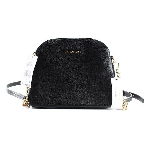 d55879b0cd Shop Michael Kors NEW Black Pebble Leather Mercer Dome Messenger Bag ...