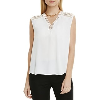 Vince Camuto Womens Casual Top V-Neck Blouse Sleeveless