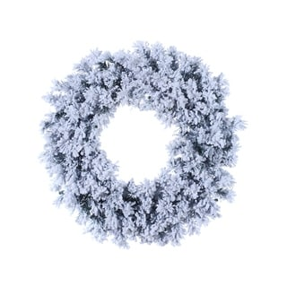 "30"" Flocked & Glittered Chestnut Jubilee Pine Artificial Christmas Wreath- Unlit"