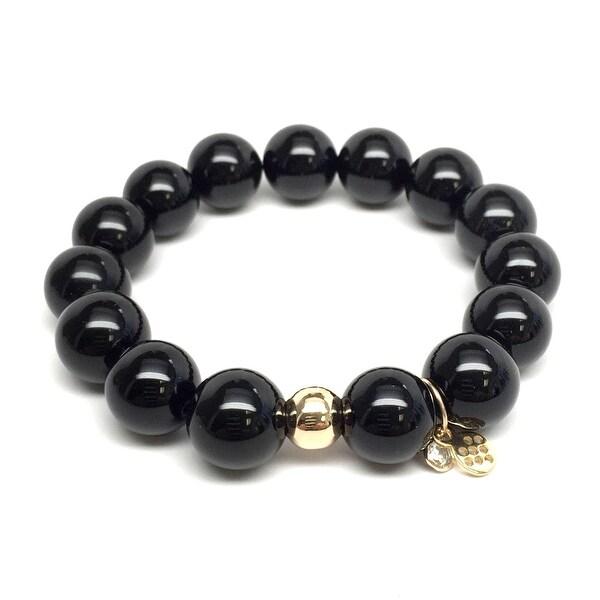 """Black Onyx Lauren 7"""" Bracelet"""