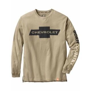 Legendary Whitetails Men's Born Country Chevrolet Long Sleeve Tee