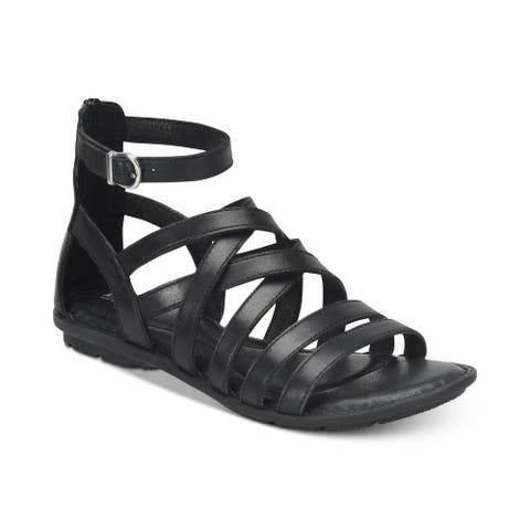 be7823354d88 Born Womens Giverny Leather Open Toe Casual Gladiator Sandals