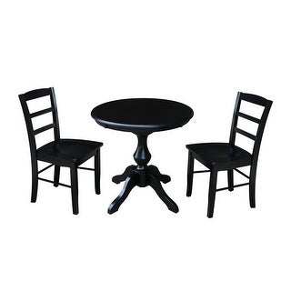 "Link to 30"" Round Top Dining Table with 2 Madrid Chairs - 3 Piece Set Similar Items in Dining Room & Bar Furniture"