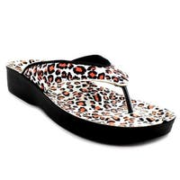 Aerosoft  Gold Leopard Plus Women Sandals - Size 6