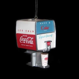 "3"" Retro-Inspired Coca-Cola® Fountain Soda Dispenser Christmas Ornament"