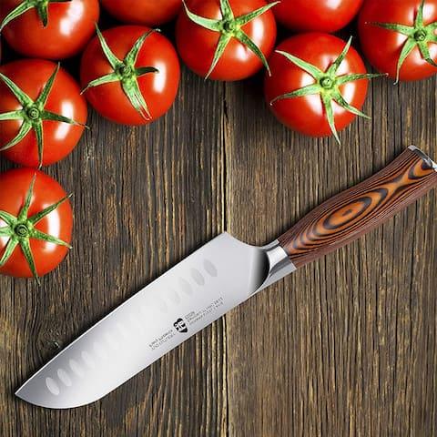 """Tuo Cutlery 7"""" Santoku Vegetable Knife, Fiery Series"""
