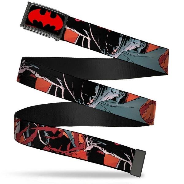 "Batman Signal Fcg Black Red 1.5"" Bo Black Batman Issue #655 Action Cover Web Belt 1.50"" Wide - L"