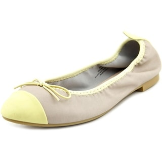 Restricted Come Over Round Toe Synthetic Ballet Flats