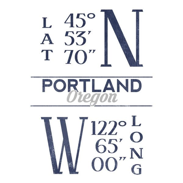 shop portland oregon latitude longitude blue lantern press artwork art print multiple sizes available 9 x 12 art print overstock 27921405 portland oregon latitude longitude blue lantern press artwork art print multiple sizes available 9 x 12 art print