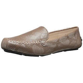 Annie Womens Dabble Metallic Textured Fashion Loafers - 7.5 wide (c,d,w)