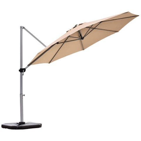 Outdoor 11 FT Cantilever Umbrella Patio Offset with Weight Base