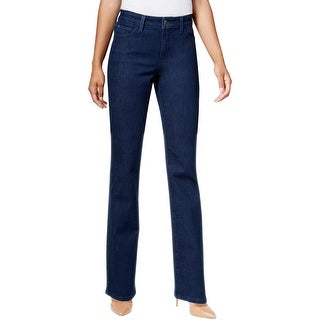 NYDJ Womens Marilyn Straight Leg Jeans Slimming Fit Medium Wash