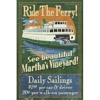 Marthas Vineyard, MA Ferry Ride Sign LP Artwork (Art Print - Multiple Sizes)