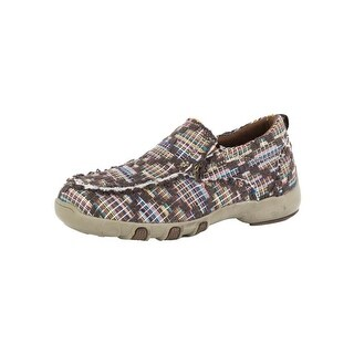 Roper Western Shoes Boys Chase Criss Cross Brown 09-018-1786-2050 BR