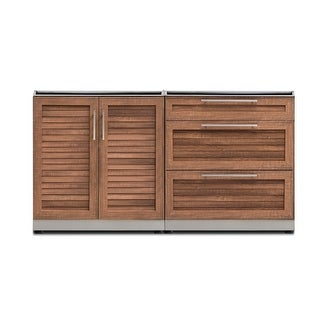 NewAge Products Outdoor Kitchen SS 64 Inch W x 24 Inch D 2 Piece Set (4 options available)
