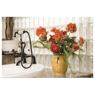 """""""Flowers in bathroom"""" Poster Print"""