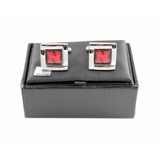 NCAA Nebraska Cornhuskers Square Cufflinks Gift Box Set