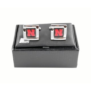 NCAA Nebraska Cornhuskers Square Cufflinks Gift Box Set