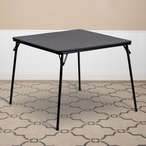 Folding Card Table with Vinyl Upholstered Table Top - Game Table