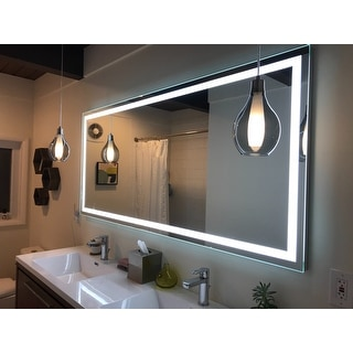Shop Lighted Led Mirror Harmony Illuminated 70 X 32 Inches