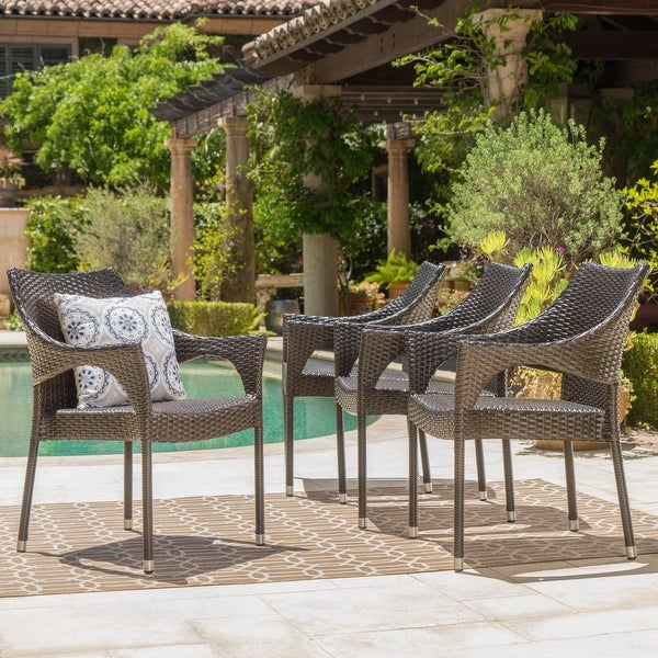 Cliff Outdoor Wicker Chairs Set by Christopher Knight Home. Opens flyout.
