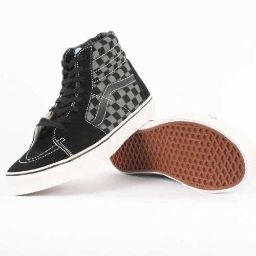 Vans Unisex Sk8-Hi Skate Shoe - black/pewter checkerboard