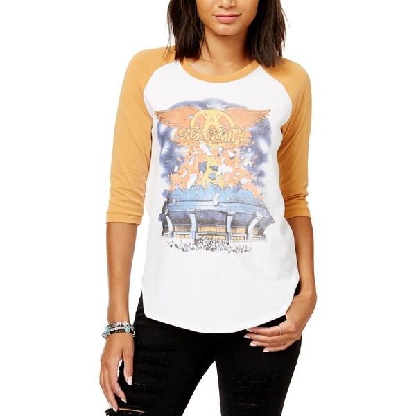6ea2c1d82 Shop Junk Food Womens Aerosmith Baseball Tee Knit Graphic - Free ...