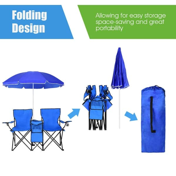 Costway Portable Folding Picnic Double