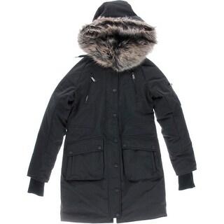 BCBGeneration Womens Fleece Lined 3-In-1 Parka - XS