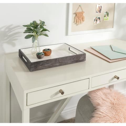 Kate and Laurel Ehrens Decorative Wood Tray