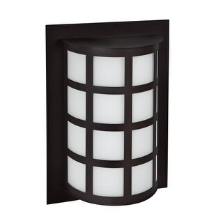Besa Lighting SCALA13-WA Scala 1 Light Outdoor Wall Sconce with White Acrylic Shade