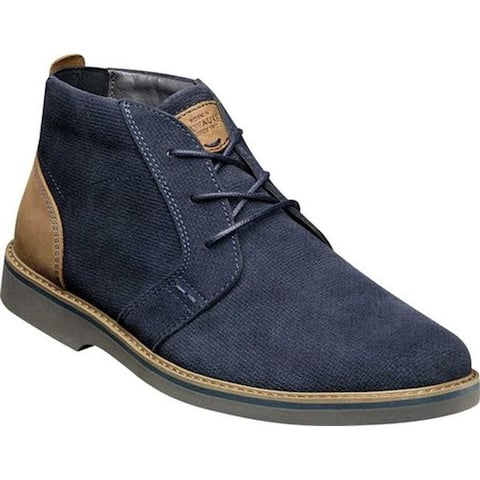 Nunn Bush Men's Barklay Plain Toe Chukka Navy Multi Suede