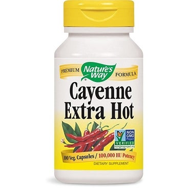 Nature's Way - Cayenne Extra Hot - 100 ct cap