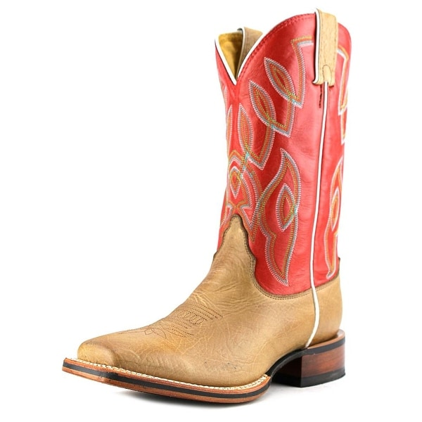 "Nocona 11"" Let's Rodeo Women Square Toe Leather Tan Western Boot"
