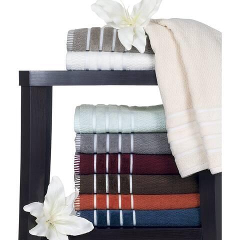 Rice Weave 100% Cotton 600 GSM 6 Piece Cotton Bath Towel Set - 27''x54''