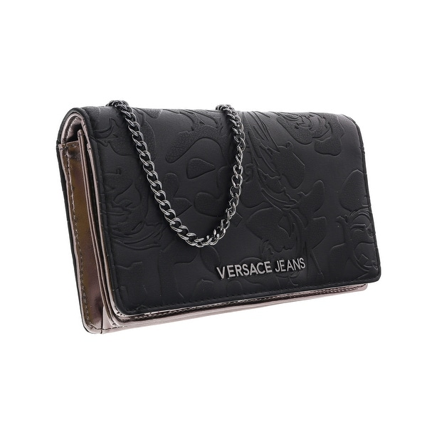 Versace EE3VOBPI1 E899 Black Wallet On A Chain - 7.25-4.5-1.25