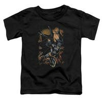 Batman-Grapple Fire - Short Sleeve Toddler Tee - Black, Small 2T