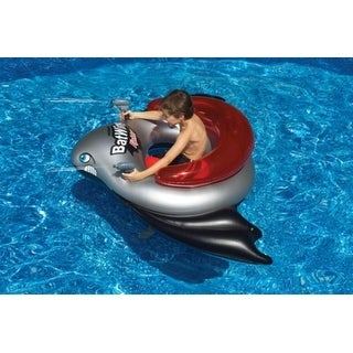 Water Sports Red Batwing Fighter Inflatable Ride-On Water Squirt Swimming Pool Toy