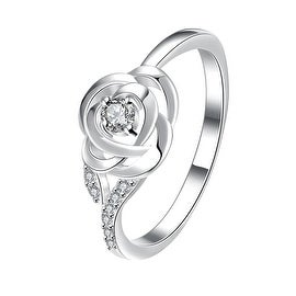 Petite Crystal Stone Blossoming Floral Ring