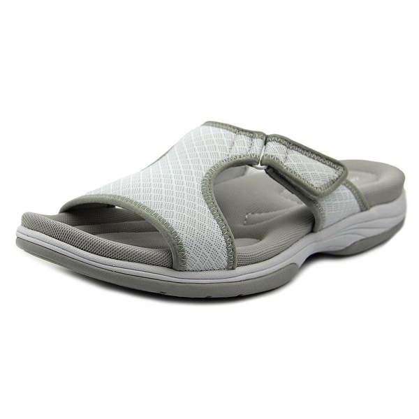 Easy Street Garbo Women Open Toe Synthetic White Slides Sandal