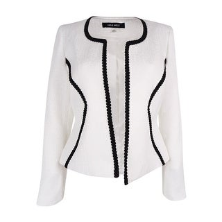 Nine West Women's Long Sleeve Open Front Blazer